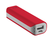 Батерии TRUST Primo Power Bank 2200 mAh, в червено