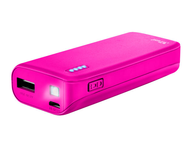 Батерии TRUST Primo Power Bank 4400 mAh, Pink