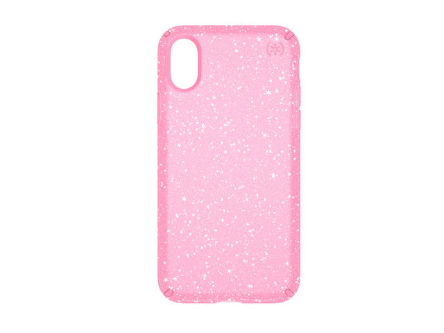 Калъфи Speck iPhone X Presidio Clear + Glitter - Bella Pink With Gold Glitter/Bella Pink