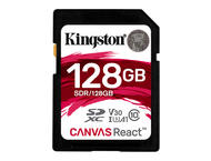 Карти памет 128GB SDXC Kingston Canvas React Class 10 UHS-I U3