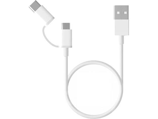 Кабели и Адаптери Xiaomi Кабел Mi 2-in-1 USB Cable Micro USB to Type C (30cm)