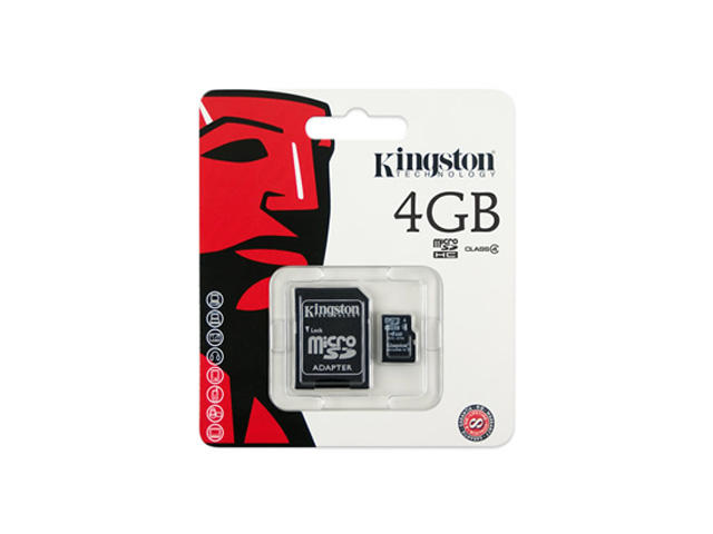 Карти памет 4GB microSD карта Kingston Class 4