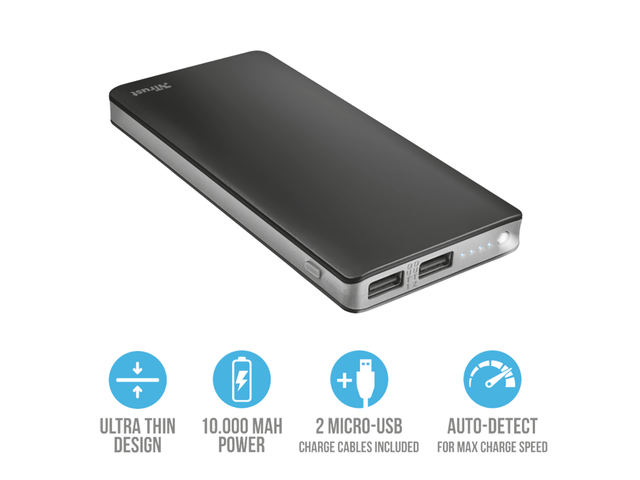 Батерии Trust Primo Thin Powerbank 10.000 mAh