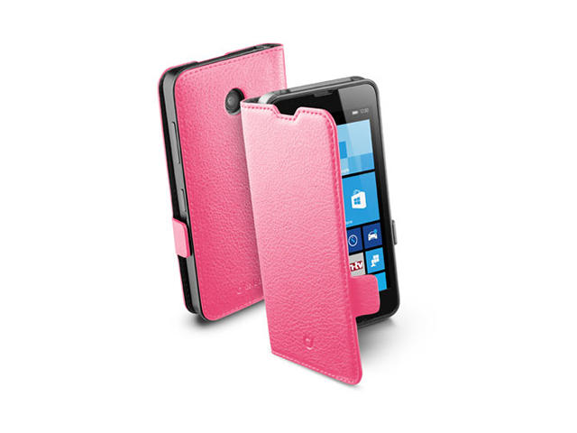 Калъфи Cellular Line Book Essential за Nokia Lumia 630, в розово