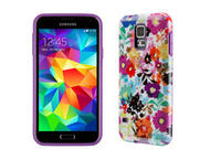 Калъфи Speck CandyShell Inked за Galaxy S5, Inked BoldBlossoms White/Revolution Purple