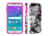 Калъфи Speck CandyShell Inked за Galaxy S6, Vintage Bouquet Grey/Shocking Pink