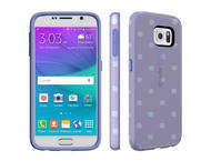 Калъфи Speck CandyShell Inked за Galaxy S6, Stripe Polka Heather/Wisteria Purple