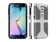 Калъфи Speck CandyShell Grip за Galaxy S6 Edge, White/Black