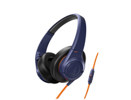 Слушалки Audio-Technica ATH-AX3iSNV SonicFuel, Navy Blue